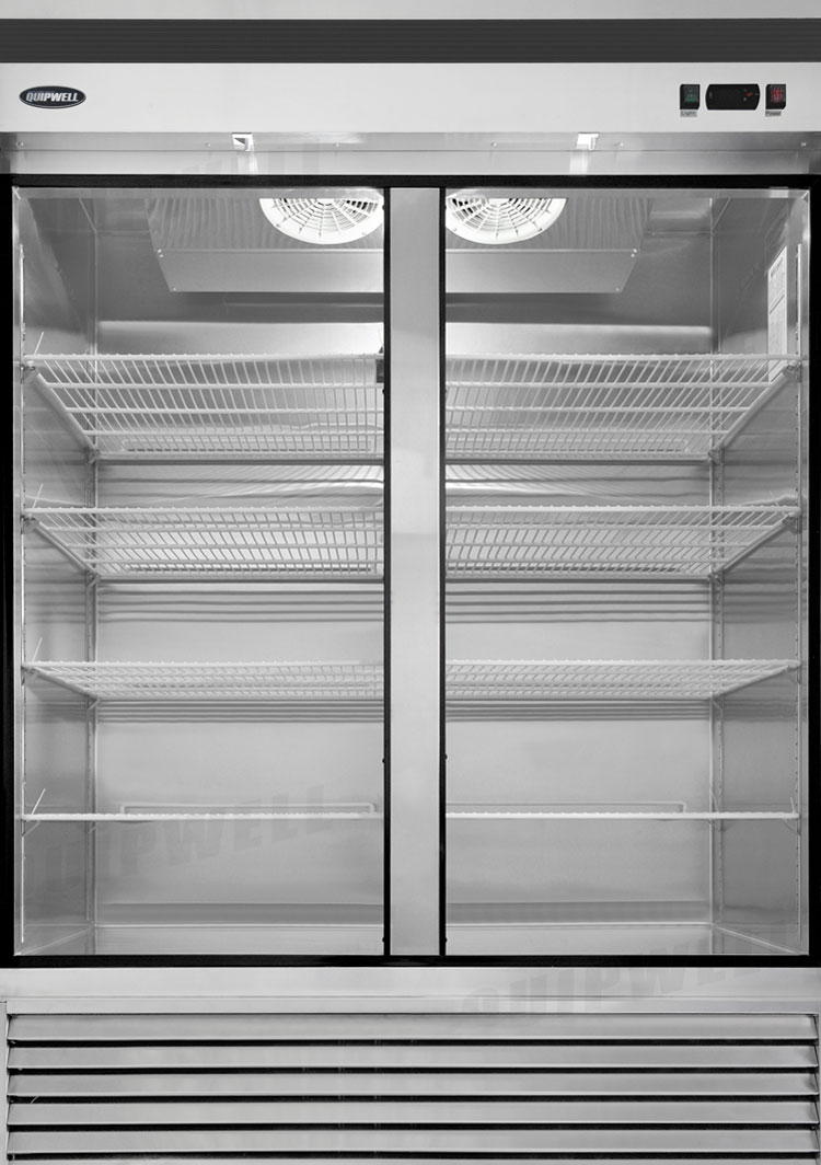 Glass door fridge kitchen - Double Glass Door Fridge 1335l Bga130