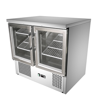 Buy Commercial 2 Glass Door Commercial Kitchen Working Bench Fridge G9st Online At