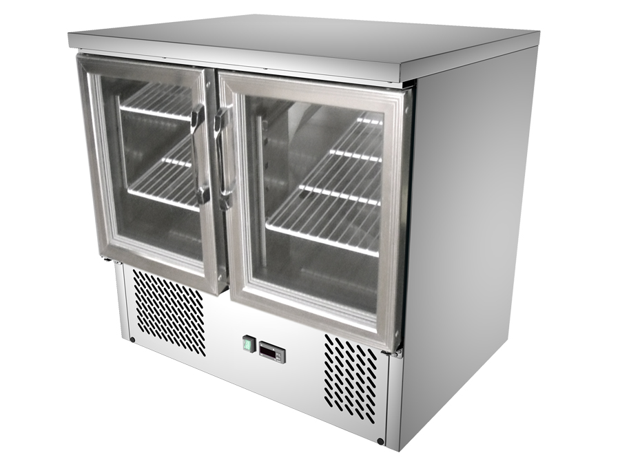 2 Glass Door Commercial Kitchen Working Bench Fridge: G9st