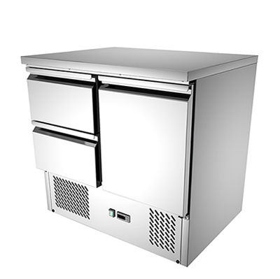 2 drawers commercial kitchen working bench fridge: s921