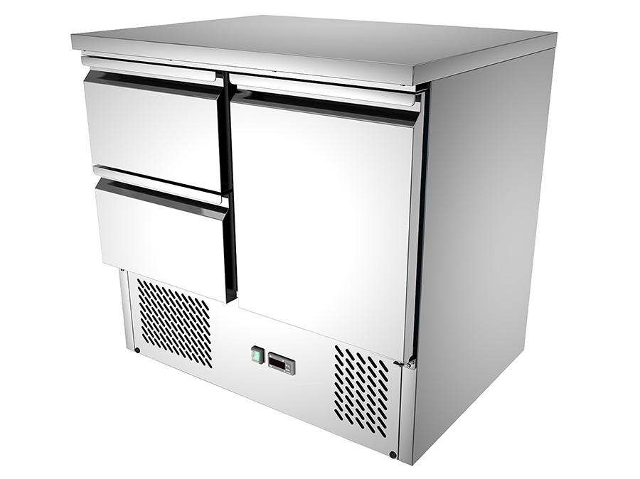 Buy Commercial 2 Drawers Commercial Kitchen Working Bench Fridge S921 Online At 1