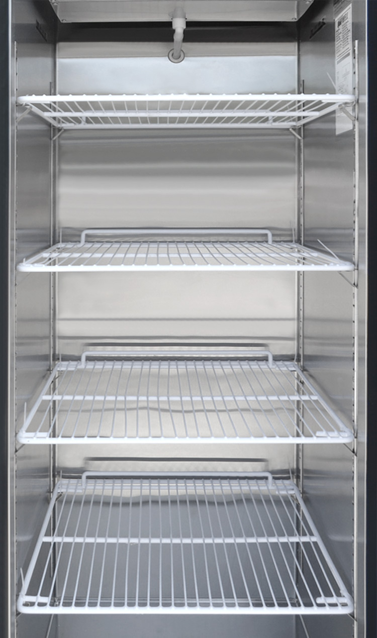 buy commercial commercial 1 door freezer tgc50 online at rh wellkart com Commercial Freezer Shelves Refrigerator Racks Shelves